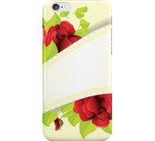 Red roses and ribbon iPhone Case/Skin