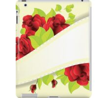 Red roses and ribbon iPad Case/Skin