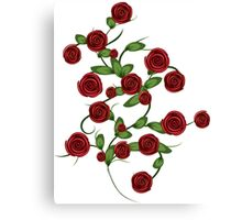 Red roses ornament Canvas Print