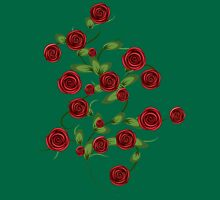 Red roses ornament Unisex T-Shirt