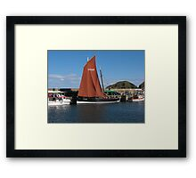 Floaty Sailing Thing Framed Print