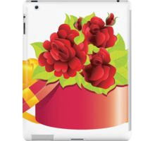 Roses in gift box iPad Case/Skin