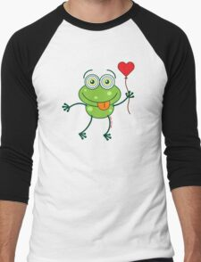 Green frog falling madly in love T-Shirt