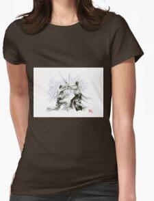 Mens gift ideas, aikido martial arts, ink drawing large poster T-Shirt