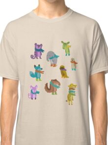 sad and indifferent animals wearing scarves Classic T-Shirt