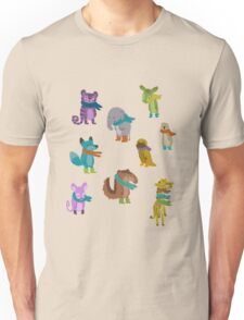 sad and indifferent animals wearing scarves T-Shirt