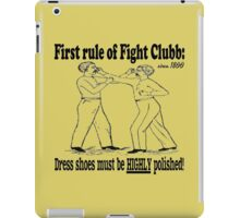 First Rule of Fight Clubb iPad Case/Skin