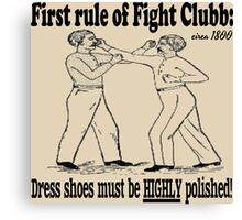 First Rule of Fight Clubb Canvas Print