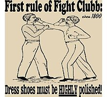 First Rule of Fight Clubb Photographic Print