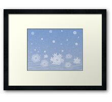 Snow with snowflakes Framed Print