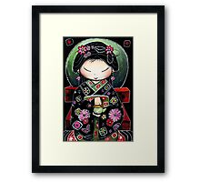 Little Green Teapot Framed Print