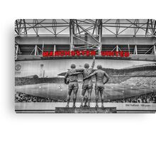 The United Trinity, Old Trafford Canvas Print