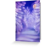 White winter forest Greeting Card
