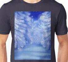 White winter forest 2 Unisex T-Shirt