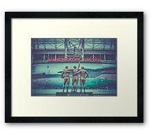 The United Trinity, Old Trafford Framed Print