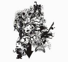 PaperCutOut One Piece - Short Sleeve