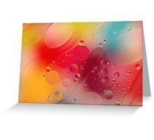 Hubble Bubble Oil and Water Greeting Card
