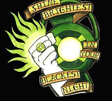 Green Lantern Tattoo Flash by ColeC