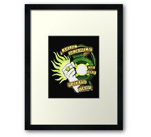 Green Lantern Tattoo Flash Framed Print