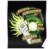 Green Lantern Tattoo Flash Poster