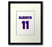 National baseball player Alberto Lois jersey 11 Framed Print