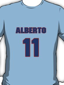 National baseball player Alberto Lois jersey 11 T-Shirt