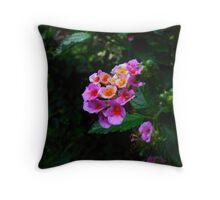 Flower Bush Throw Pillow