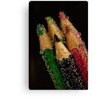 Coloured Pencils and Bubbles Canvas Print