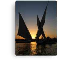 Sunset on Nile Canvas Print