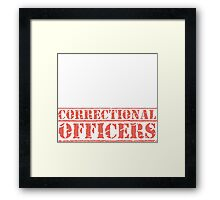 8th Day Correctional Officers T-shirt Framed Print