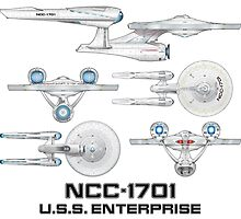 NCC-1701 U.S.S. Enterprise by kerchow
