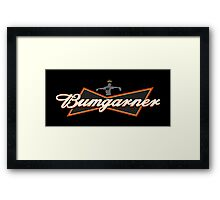 Bumgarner - The King Of Baseball Framed Print