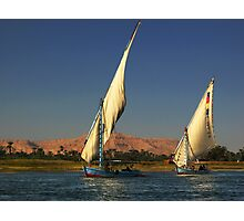 Fishing on Nile Photographic Print