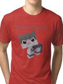 Brick Boris Kitty Tri-blend T-Shirt