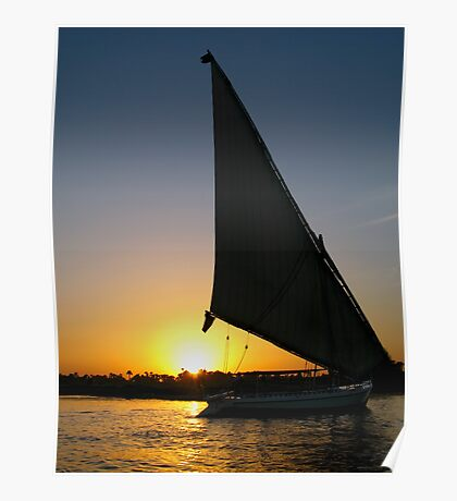 Sunset on Nile Poster