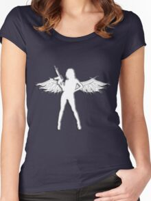 My guardian angel... Women's Fitted Scoop T-Shirt