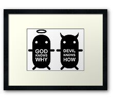 GOD KNOWS WHY & DEVIL KNOWS HOW Framed Print