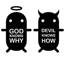 GOD KNOWS WHY & DEVIL KNOWS HOW Photographic Print