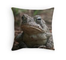 Fowler's Toad (Bufo fowleri) XT0017448 Throw Pillow