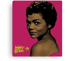 Eartha Kitt Pop Art By JTRAFL Canvas Print