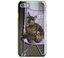 One strange cat iPhone Case/Skin
