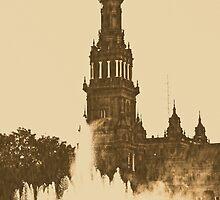 Sevilla - Plaza de Espana  by Andrea Mazzocchetti