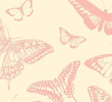 Butterfly (Butterflies), Insects - Pale Pink by sitnica