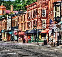 Galena Main Street Early Summer Morning by Roger Passman