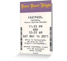 Peter Pan's Flight Fastpass Greeting Card