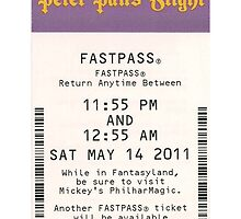 Peter Pan's Flight Fastpass by JakeyJurin