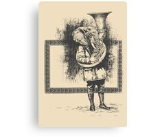 Elephant Music Canvas Print