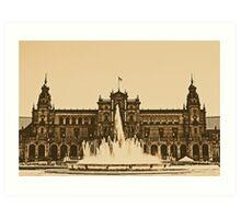 Plaza de Espana - Sevilla Art Print