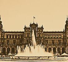 Plaza de Espana - Sevilla by Andrea Mazzocchetti