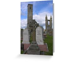 celtic cross at st andrews Greeting Card